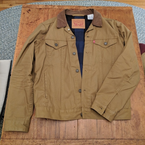 Levi S Jackets Amp Coats Waxed Cotton Trucker Jacket